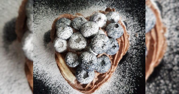 Pancakes van Hazelnootmeel en Chocolade