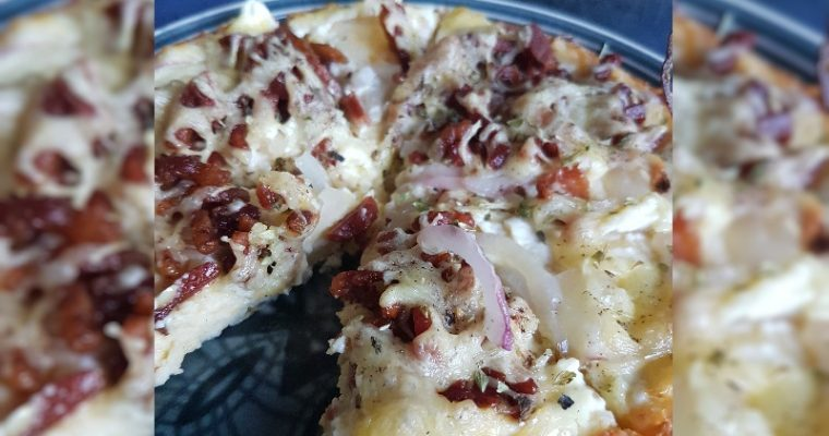 Low Carb Zuurkool Flammkuchen