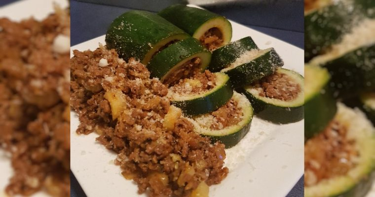 Low Carb Gevulde Courgette Bolognese