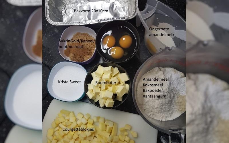 Ingrediënten appelcake | Lowcarb-rita.nl