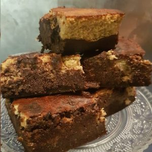Low Carb Pompoen Cheesecake met een Browniebodem
