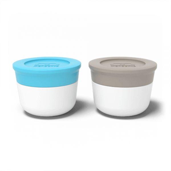 Sausbakjes dressingcups grijs-blauw