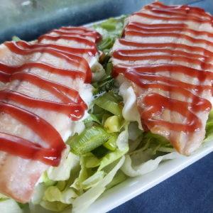 Koolhydraatbeperkte Salade met Prei en Forel